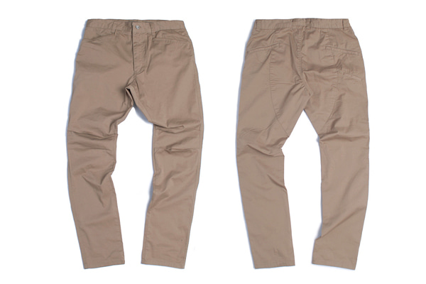 (토엘)DIAGONAL LONG PANTS - BG